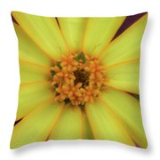 Yellow Zinn Throw Pillow