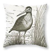 Yellowlegs Shorebird Throw Pillow