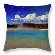 Yellowstone Blues Throw Pillow