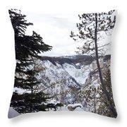 Yellowstone Canyon Throw Pillow