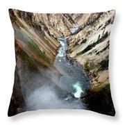 Yellowstone Fall Throw Pillow