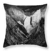 Yellowstone Falls II Throw Pillow
