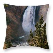 Yellowstone Grand Canyon Falls Throw Pillow