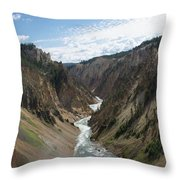 Yellowstone Grand Canyon Throw Pillow