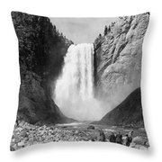 Yellowstone: Grand Falls Throw Pillow