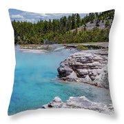 Yellowstone Grand Prismatic Spring Throw Pillow