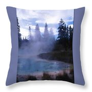 Yellowstone Haze Throw Pillow