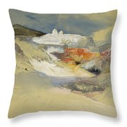 Yellowstone, Hot Springs, July 21, 1892 Throw Pillow