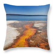 Yellowstone Lake And West Thumb Geyser Flow Throw Pillow