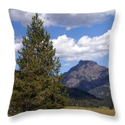 Yellowstone Landscape Throw Pillow