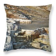 Yellowstone Mineral Features 3 Throw Pillow