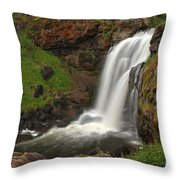 Yellowstone Moose Falls Throw Pillow
