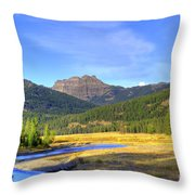 Yellowstone National Park Landscape Throw Pillow