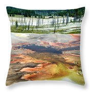 Yellowstone Park Firehole Spring Area Vertical 02 Throw Pillow