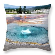 Yellowstone Park Firehole Spring In August 02 Throw Pillow