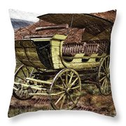 Yellowstone Park Stage Coach With Horses Pa 01 Throw Pillow