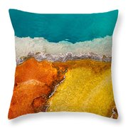 Yellowstone Pool Throw Pillow