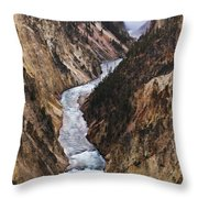 Yellowstone River Falls Throw Pillow
