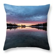 Yellowstone River Sunrise Colors Throw Pillow
