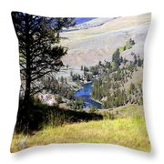 Yellowstone River Vista Throw Pillow