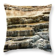 Yellowstone Rock Formation Throw Pillow