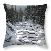 Yellowstone -  Soda Butte Creek Throw Pillow