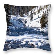 Yellowstone Winter One Throw Pillow
