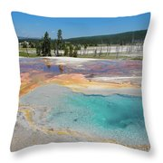 Yellowstone's Firehole Throw Pillow