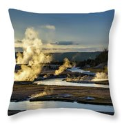 Yellowstone's Midway Geyser Basin  Throw Pillow