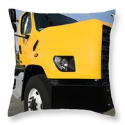 Yellowtruck Throw Pillow