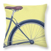 Yelow Bike Throw Pillow