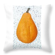 Yelow Pear Throw Pillow