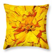 Yelow Tulip Throw Pillow
