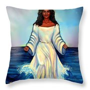 Yemaya- Mother Of All Orishas Throw Pillow