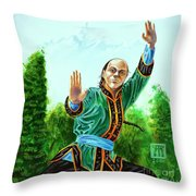 Yen Fan Throw Pillow