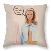 Yes I Love You Bill Throw Pillow