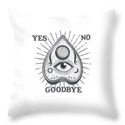 Yes No Goodbye Magic Ouija Vintage Planchette Design Throw Pillow