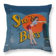 Yes, She Is Throw Pillow