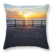 Yes, The Sun Rises To The East Red Rock Park Lynn Shore Drive Throw Pillow
