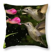 Yes We Are Twins Throw Pillow