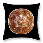 Yesirah Copper Lightmandala Throw Pillow