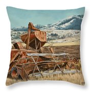 Yesterday I Was Tired, Today I Am Retired. Throw Pillow
