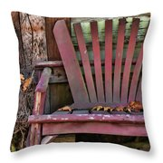 Yesterday's Chair Throw Pillow