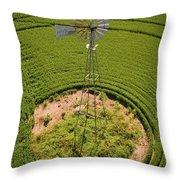 Yesterday's Windmill II Throw Pillow
