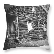 Yesteryear Old Slave Quarters Throw Pillow