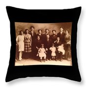 Yesteryears-grandfather Philip And Our Family Throw Pillow