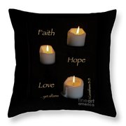 Yet Aflame Throw Pillow