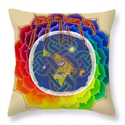 Yhwh Covers Earth Throw Pillow
