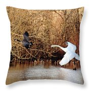 Yikes - Catching Up Throw Pillow