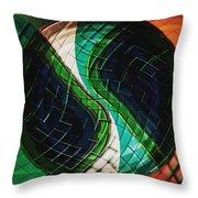 Yin Yang Abstract Throw Pillow